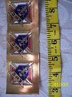 KNIGHTS OF COLUMBUS 3rd Degree Gold Foil STICKER 1 1 2 inch Count 3