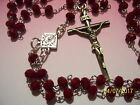 KNIGHTS OF COLUMBUS Rosary RED 20 inches