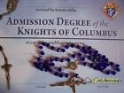 KNIGHTS OF COLUMBUS Rosary Colbal Blue 20 inches