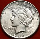 1924 S San Francisco Mint Silver Peace Dollar Free Shipping