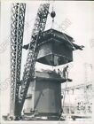 1936 Los Angeles CA Transformer Set in Place to Accept Water Flow Press Photo