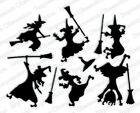Impression Obsession SIX WITCHES DIE SET DIE457 Y Halloween