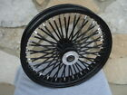 21X35 BLACK OUT FAT KING SPOKE DUAL DISC FRONT WHEEL HARLEY TOURING BAGGER 2000