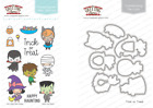 TRICK OR TREAT Stamps Dies Set The Greeting Farm Stamping Craft Mini Anya