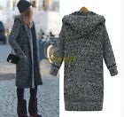 M-5XL Fashion Womens Hooded Autumn Winter Knitted Sweaters Cardigans Coat Jacekt