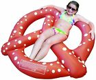 Inflatable Pretzel pool float for fun on the beach or pool