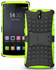 NEON LIME GREEN GRENADE GRIP RUGGED SKIN HARD CASE COVER STAND FOR ONEPLUS ONE