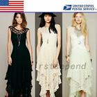 Engagement Wedding Bridesmaid Formal Evening Prom Party Floral Lace Maxi Dress