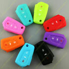 Flip Remote Silicone Rubber Key Fob Case Protect Holder Fit For Toyota Corolla
