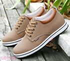 Fashion Mens Board Shoes Hidden Heels Lace Up Sneakers Casual Shoes Flats Breath