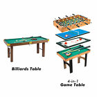 4 in 1 Multi Game Table Hockey Foosball Mini Billiards Pool Table Set 2 Types