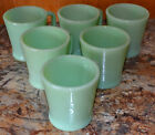 ~MINTY~ 6 VINTAGE FIRE KING JADEITE RESTAURANT WARE D-HANDLE, OVEN WARE MUGS