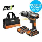 WORX MaxLithium Cordless Drill Driver with 2 20V Batteries - Yellow. From Argos