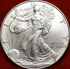 Uncirculated 1999 American Eagle Silver Dollar Free S H