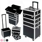 Pro Aluminum Rolling Makeup Jewelry Case Salon Cosmetic Organizer Trolley