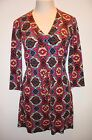 Womens VERONICA M Multi Colored Long Sleeve Dress XS Career Church VERONICAM
