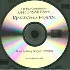 For Your Consideration Kingdom Of Heaven: Best Original Score FYC PROMO Music CD