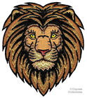 AFRICAN LION iron on PATCH embroidered ROARING WILD ANIMAL SOUVENIR APPLIQUE new