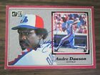 1983 Donruss Action All Star # 9 Andre Dawson Autograph Signed Card Expos