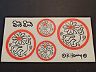 1980s Keith Haring Strip Tac Vinyl Decals Stickers Rare Baby Crawling Unused