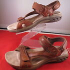 Earth Spirit Adelaide Brown Leather Strappy Sport Sandals Womens Size 9 M