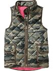 EUC OLD NAVY Quilted Barn Vest Jacket Size Small 6 7 Camo Green Camouflage