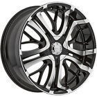 18x75 Black Incubus Paranormal Wheels 5x115 5x120 +35 BMW 3 SERIES 318 Z3