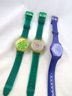 Swatch Men's Size Watch Used New Band Works Lot 3