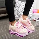 Womens Lace Up Platform Heel Casual Running Sports New Fashion Sneakers Shoes Q5