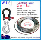 3/PK Steel Wire Winch Rope Cable 10mm x 28m w 3/4