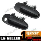 For 93 97 GEO PRIZM 2 Pcs Black Outer Front Rear Pass RH Side Door Handle