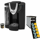 iCoffee Single Serve Coffee Maker with Reusable K-Cup + 40 K-Cup Stacked Holder