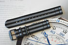 18mm James Bond 007 2-Piece Strap Watch Band PVD Steel Fits Omega TAG Vintage++