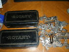 set of 2 vintage Rotary Greist sewing machine attachments with metal cases