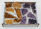 Wholesale Bulk Citrine  Amethyst Crystal Clusters 10 18 Piece Lot