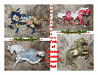 TRAIL OF PAINTED PONIES Set of 4 Holiday Ornaments Christmas 2017 25 3 Tall