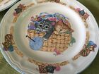 (2) Tienshan PURRFECT FRIENDS Cats / Kittens Lunch Plates (7.5