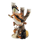 Fitz and Floyd Halloween Harvest Witch Candle Holder 3 arm Candelabra