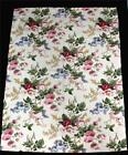 2 Waverly BRIANNA Cream Colorful Rich Tones Floral Window Rod Pocket Tiers NWOT
