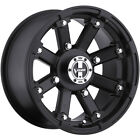 Vision Lock Out 14x8 5x1143 5x45 10mm Matte Black Wheels Rims