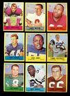 1967 PHILADELPHIA FOOTBALL PARTIAL SET 93 198 NM *INV6152-008