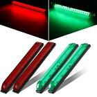 4x Green Red Bow LED 8 Sidelight Navigation Light Waterproof Boat Utility Strip