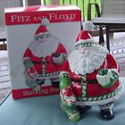 Fitz and Floyd Santa Holiday Christmas Cookie Jar Stocking Stuffers