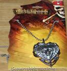 NEW Disney Pirates of Caribbean At Worlds End DAVY JONES HEART LOCKET Necklace