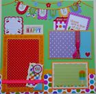 Fun Summer Bright Colors Premade Scrapbook Single Page Layout