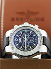 Breitling Bentley GMT Chronograph Steel Black Dial Automatic Mens Watch A47362