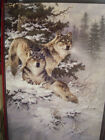 LEANIN TREE CHRISTMAS CARD SET BEAUTIFUL WOLVES IN WINTER 10 PK NEW