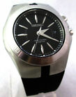 SEIKO MEN'S $395 ARCTURA KINETIC SLV-TONE BLACK DIAL RUBBER STRAP WATCH SKA207*