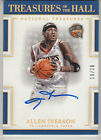 2016-17 National Treasures Allen Iverson Treasures of the Hall Gold Auto #10 10