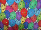 1 3 8 YARDS St Jude Childrens Hospital FLEECE Fabric Balloons Confetti T76